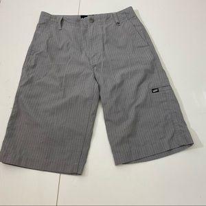 Women's Grey & Black Stripe Van's Shorts Sz 16